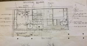 Garden site landscaping drawing
