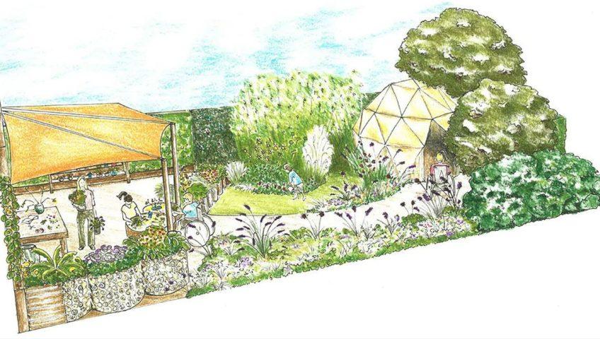 Artist impression of the Sensory Show Garden