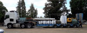 Lorry delivery to site