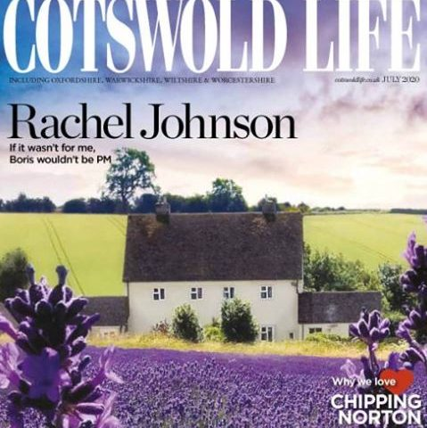 Cotswold Life magazine July 2020 issue front cover featuring article discussing using a garden designer